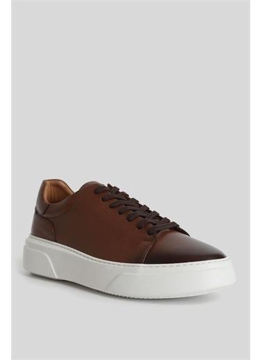 Lufian Tommy Deri Sneaker Taba Taba